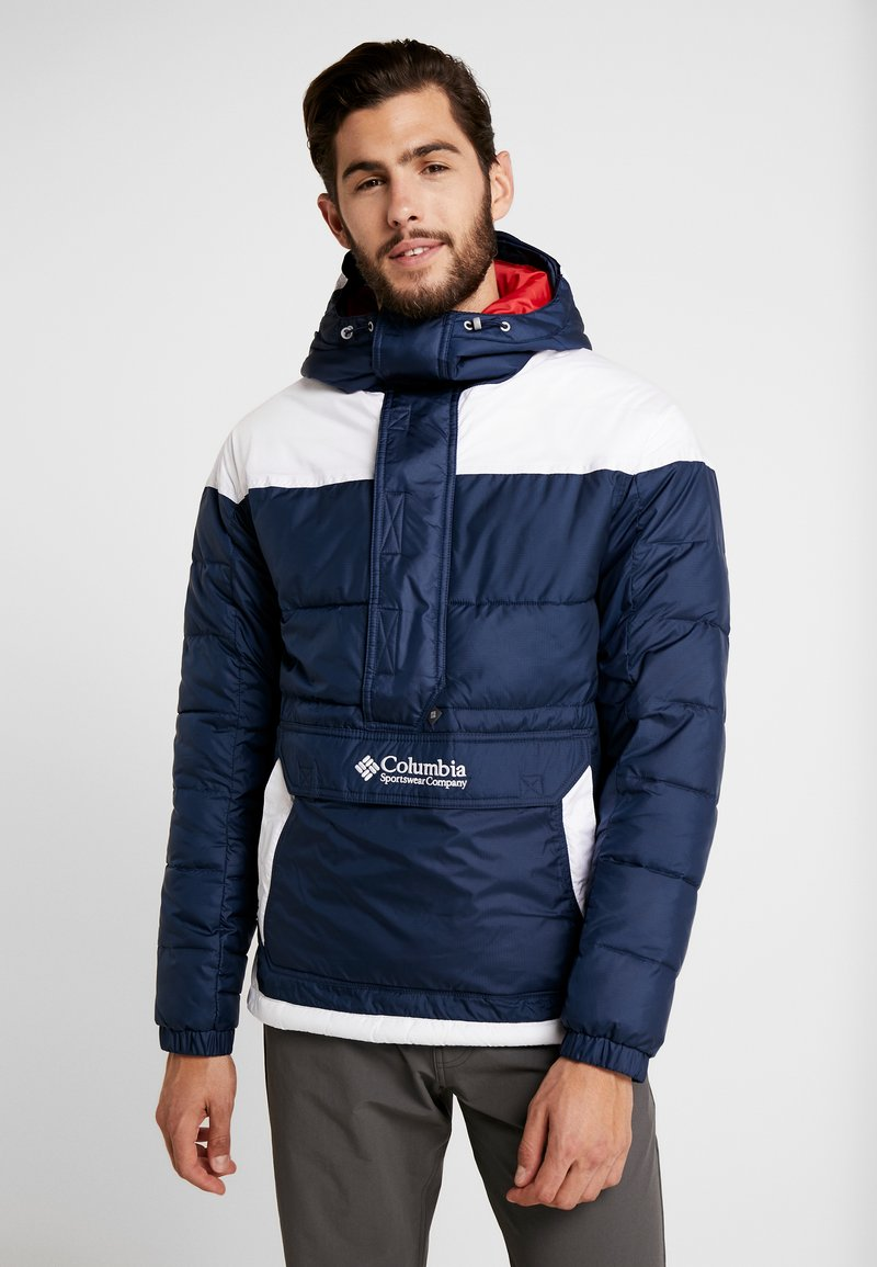 Columbia - LODGE PULLOVER JACKET - Vinterjakker - collegiate navy/white