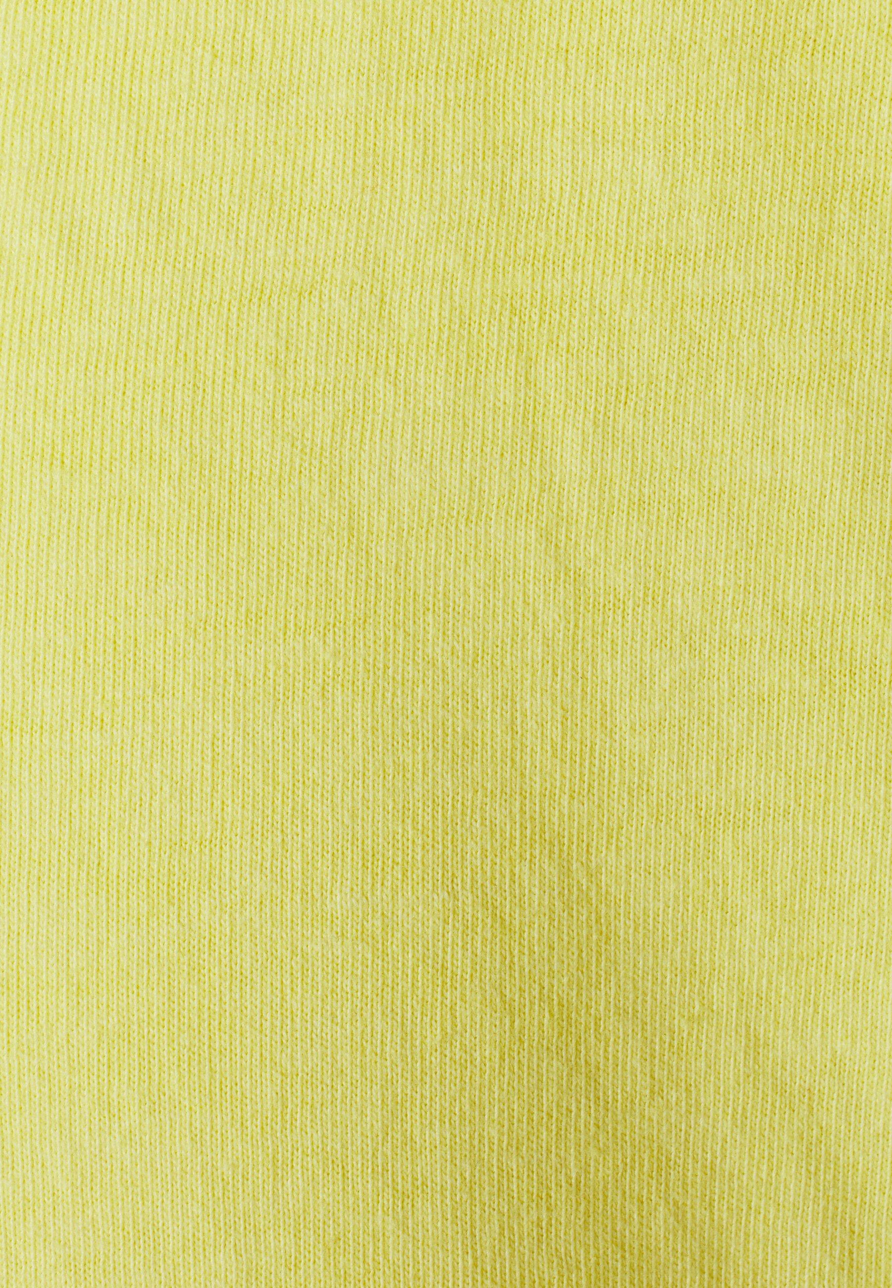 Brave Soul RADICAL - Basic T-shirt - light yellow cool wash OwFNj