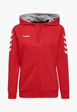HMLGO - Zip-up hoodie - true red