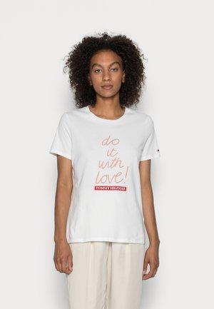 SLOGAN - Print T-shirt - ecru