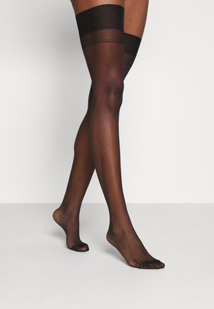 STOCKINGS PLAIN LEG - Ylipolvensukat - black