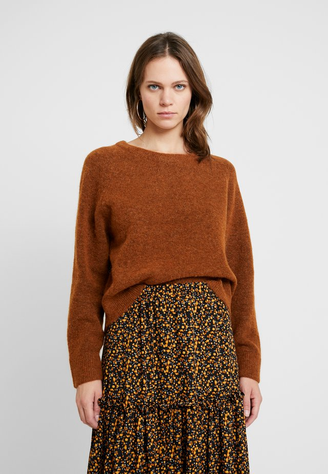 Sweter - dark inca gold