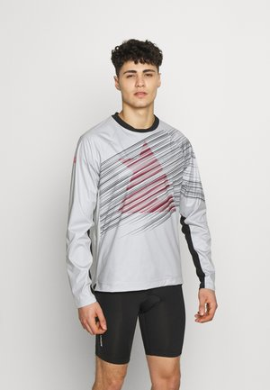 PROTECH ZONEZ MEN - Sports shirt - glacier grey/pirate black