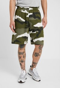 Nike Sportswear - CLUB  - Shorts - medium olive/summit white - 0