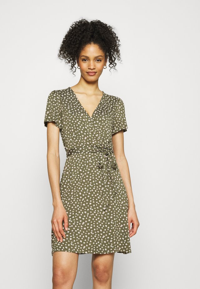 WRAP DRESS - Jersey dress - green