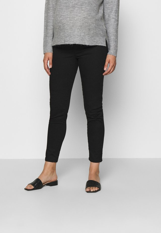 KEIRA CROPPED - Slim fit jeans - black