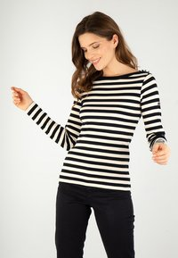Armor lux - ERQUY MARINIÈRE - Long sleeved top - rich navy/nature - 0