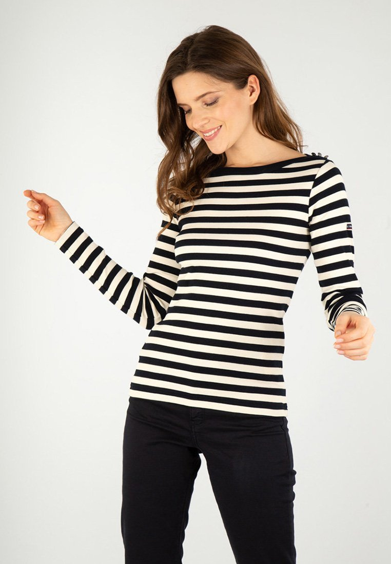 Armor lux - ERQUY MARINIÈRE - Long sleeved top - rich navy/nature
