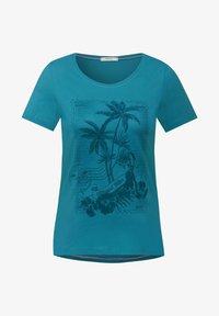 Cecil - Print T-shirt - türkis - 3