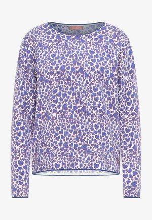 Sweatshirt - print heart blue