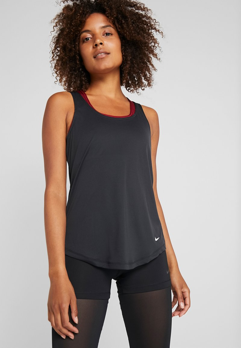 Nike Performance - DRY - T-shirt sportiva - black/white