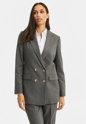 DAMES LOOSE FIT DOUBLE BREASTED BLAZER - Abrigo corto - dark grey