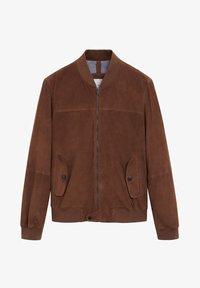 Mango - UBBE - Leather jacket - chocolat - 5