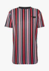 Supply & Demand - PIN VERTICAL STRIPE - T-shirt con stampa - black/red - 4