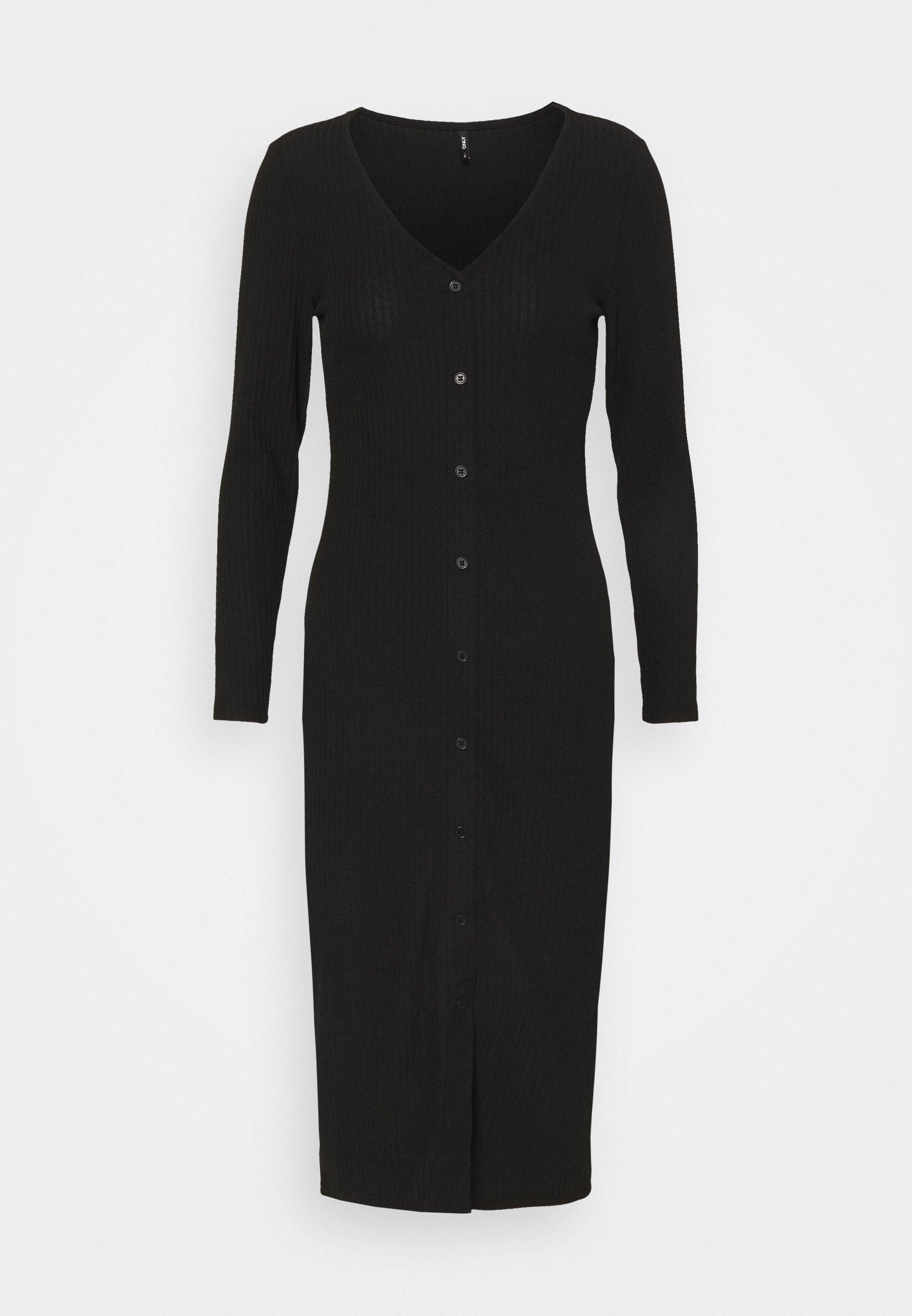 Mujer ONLNELLA LONG BUTTON DRESS - Vestido de punto