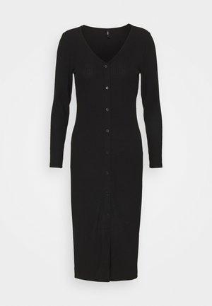 ONLNELLA LONG BUTTON DRESS - Jumper dress - black