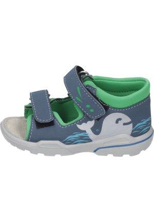 Walking sandals - pavone/neongrün
