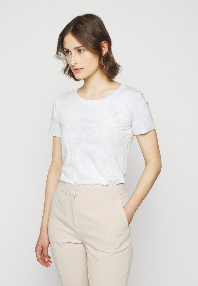 VINTAGE CREWNECK TIE DYE - T-shirt con stampa - blue/mint