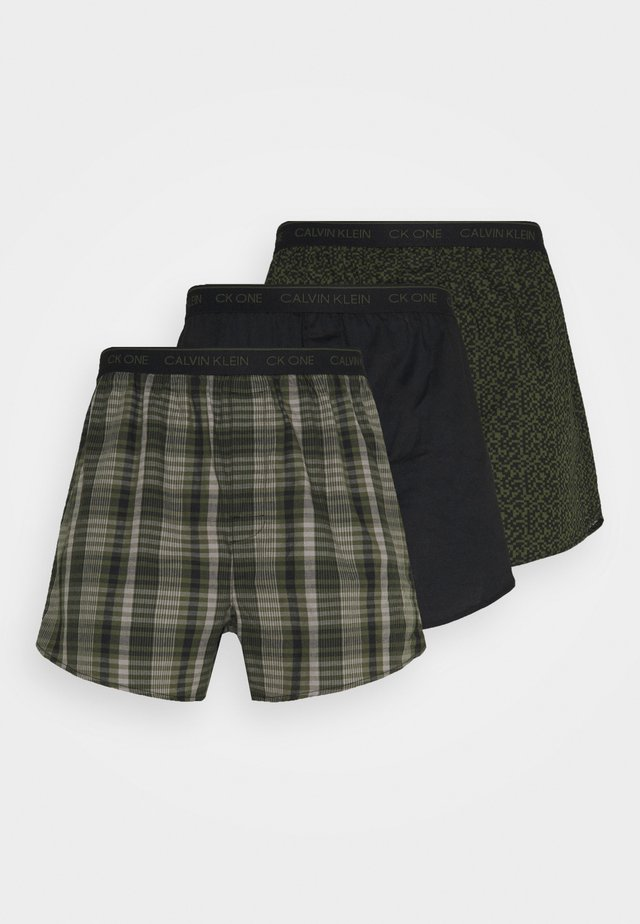SLIM 3 PACK - Boxer shorts - green