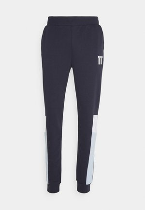 CUT SEW SIDE PANELLED JOGGERS  - Tracksuit bottoms - navy /white/poweder blue