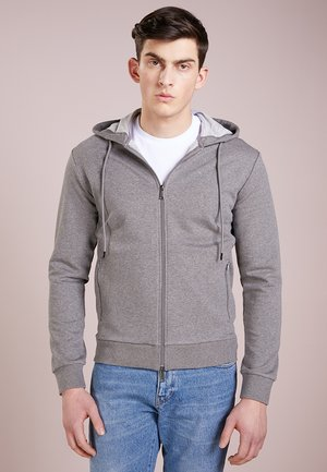 ZIPPED HOODIE  - veste en sweat zippée - grigio medio