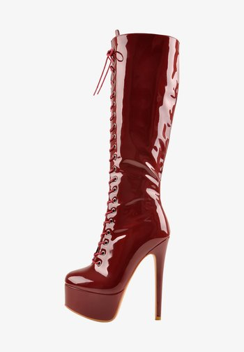 High heeled boots - rot