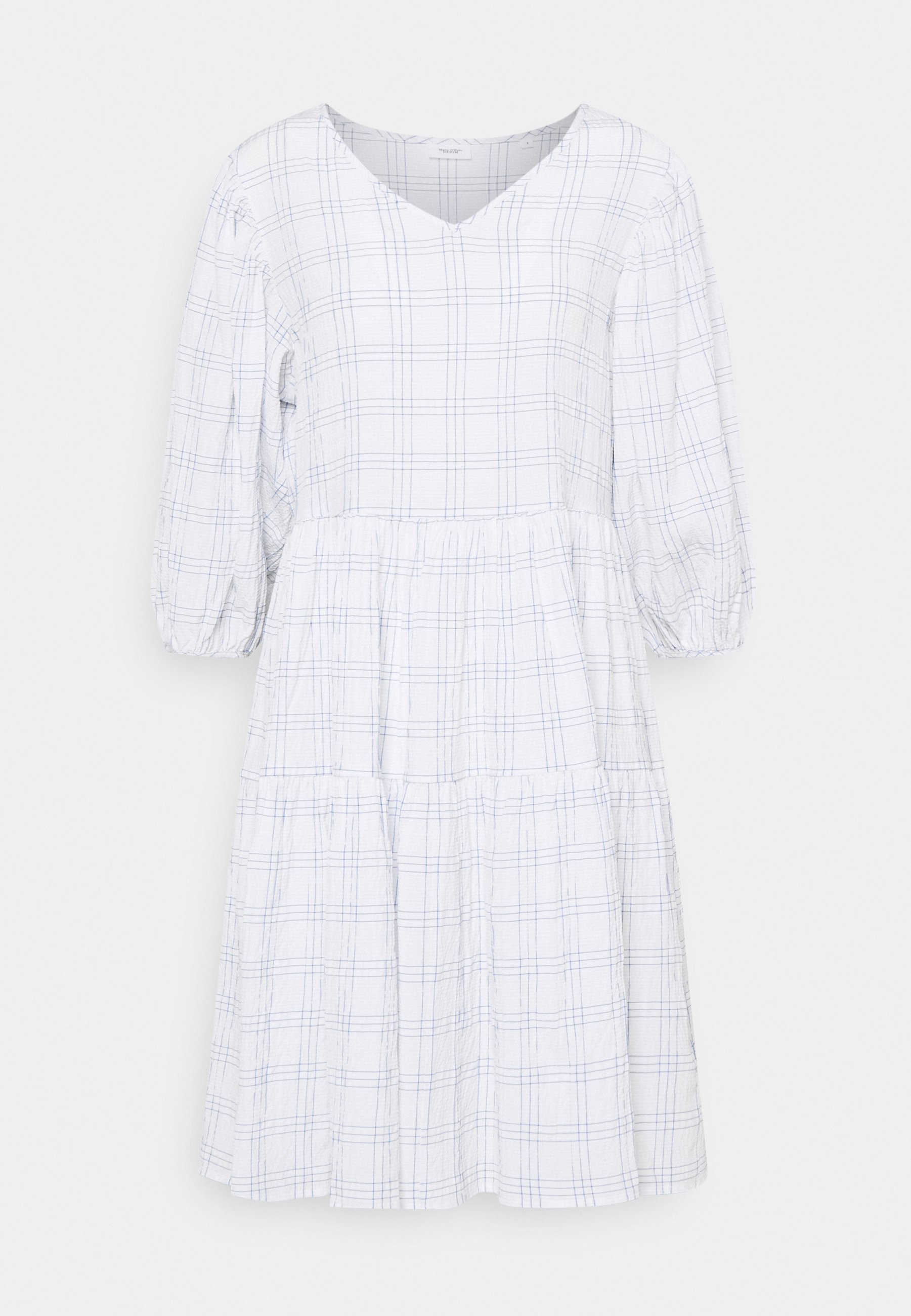 Women WIDE SLEEVES DRESS WITH CHECK - Day dress