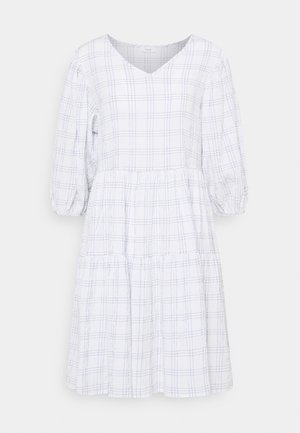 WIDE SLEEVES DRESS WITH CHECK - Kjole - scandinavian white