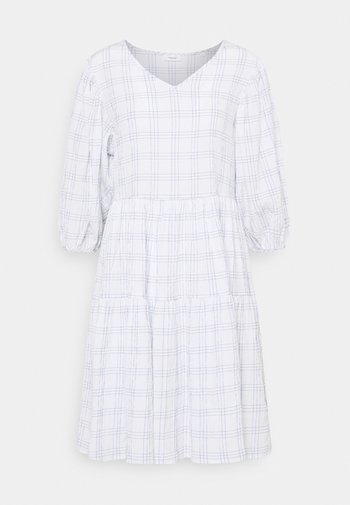 WIDE SLEEVES DRESS WITH CHECK