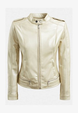 Faux leather jacket - goldenfarbe
