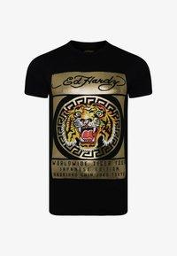 Ed Hardy - TILE-ROAR T-SHIRT - T-shirt print - black - 2