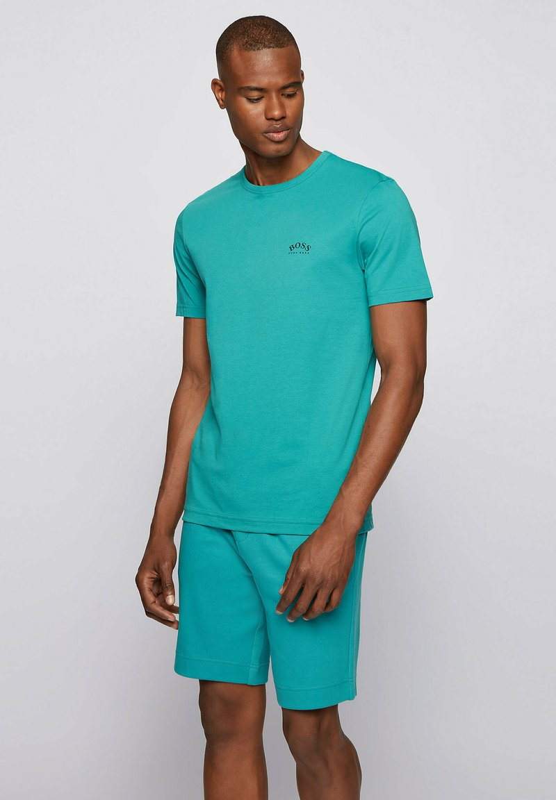 """BOSS - """"TEE CURVED"""" - Basic T-shirt - turquoise"""