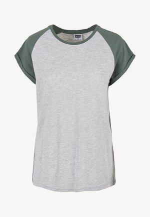 Print T-shirt - lightgrey/paleleaf