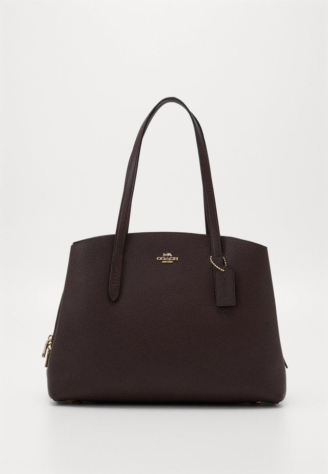 CHARLIE - Shopping bag - oxblood