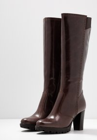 Anna Field Select - LEATHER PLATFORM BOOTS - Stivali con plateau - brown - 4