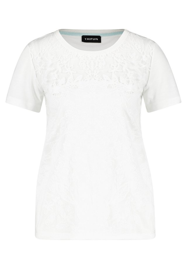 MIT AUSBRENNER-OPTIK - Print T-shirt - offwhite
