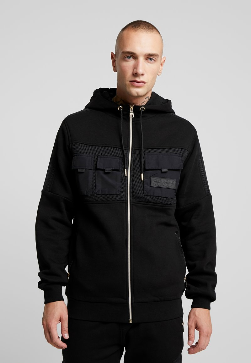 Glorious Gangsta - GALIS UTILITY HOOODIE - Zip-up hoodie - black