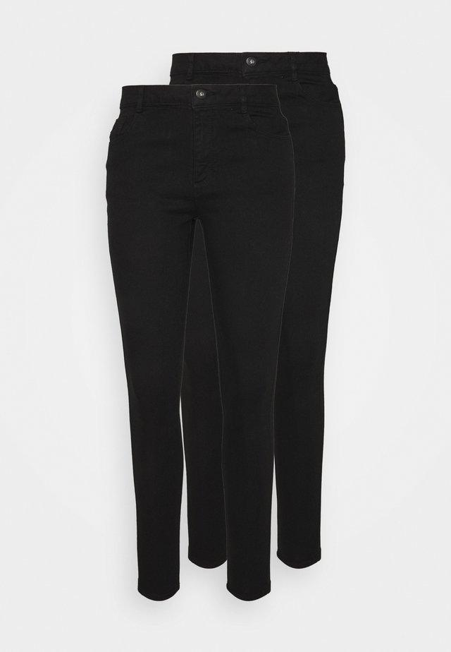 ELLIS 2 PACK - Skinny džíny - black
