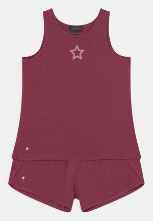 STAR DETAIL RUNNING SET - Top - burgundy