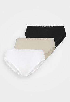 AINA BRIEF 3 PACK - Braguitas - black/white/beige