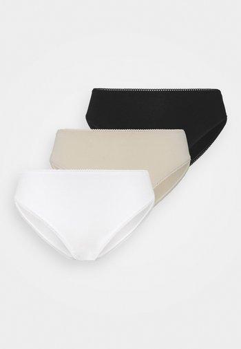 AINA BRIEF 3 PACK - Briefs - black/white/beige