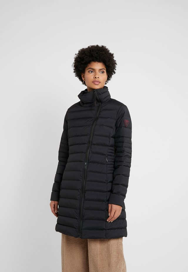 STRETCH LONG JACKET - Down coat - black