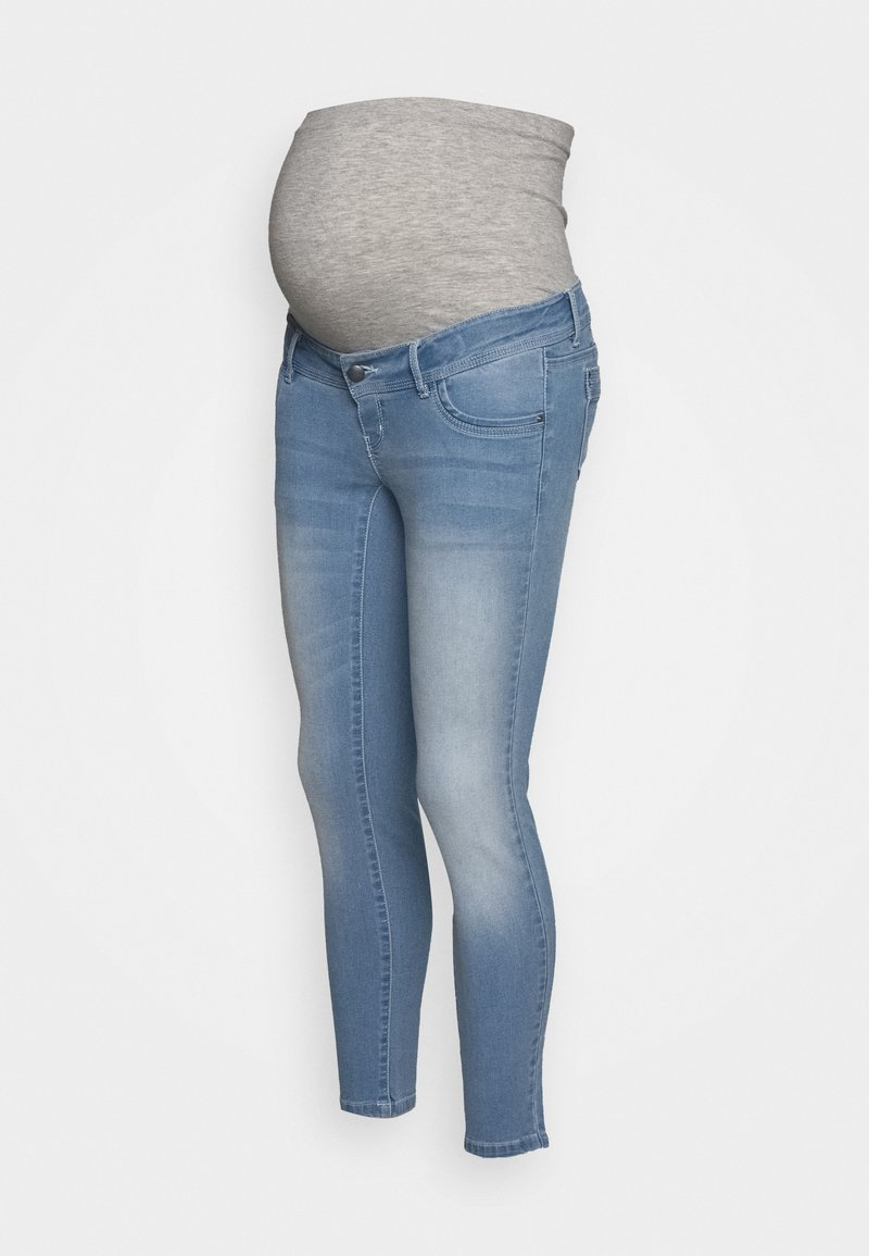 MAMALICIOUS - MLNOME 7/8 SLIM - Jeans Skinny Fit - light blue denim