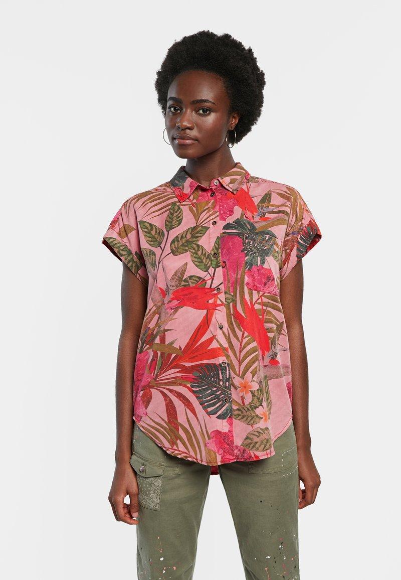 Desigual - ROUS - Button-down blouse - red