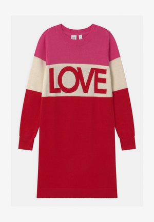 GIRL LOVE  - Gebreide jurk - multi-coloured