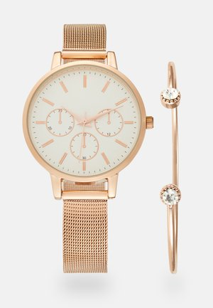 SET - Klocka - rosegold-coloured