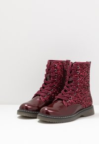 Friboo - Lace-up ankle boots - bordeaux - 3