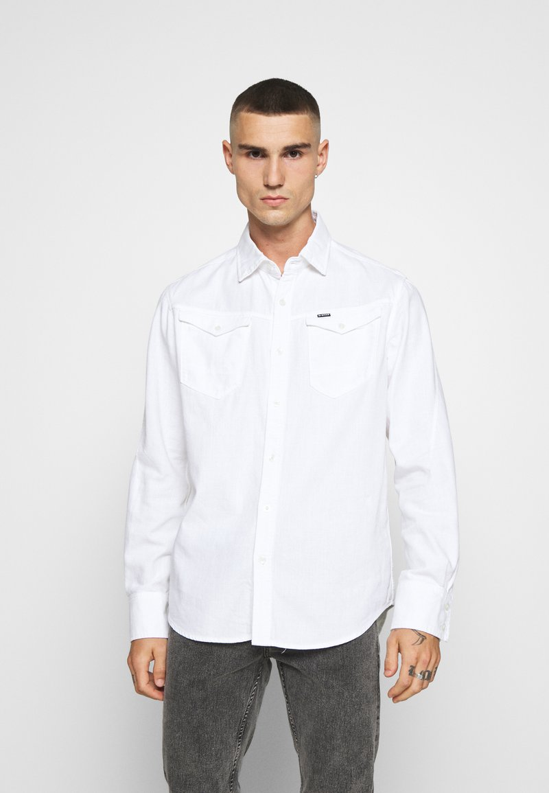 G-Star - ARC 3D SLIM SHIRT L\S - Overhemd - white