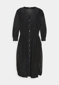 KARL LAGERFELD - DRESS SMOCKING WAIST - Day dress - black - 4