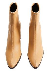 Mango - PUNTO - High heeled ankle boots - marrón medio - 1